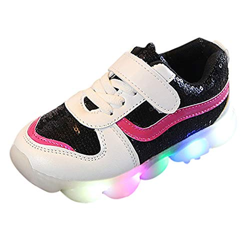 Sneakers,Baby Girls Boys Sequins Lightning LED Luminous Sport Shoes Sneakers ()