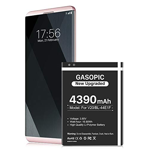 LG V20 Battery, [Upgraded] 4390mAh BL-44E1F High Capacity 0 Cycle Battery Replacement for H910 H918 LS997 US996 VS995 V20 Spare Battery - 36 Months Warranty