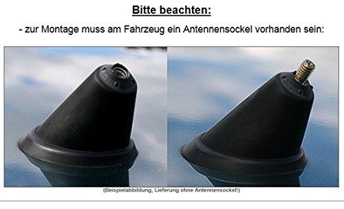 f/ür Radioempfang nur 10,3cm Schwarz KG Kurzstab Antenne AD Tuning GmbH /& Co