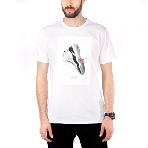 Nike Mens Air Jordan 11 CNXN T-Shirt White 914459-100 Size X-Large (Air Mens T-shirt)