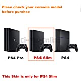 Ci-Yu-Online VINYL SKIN [PS4 Slim] Nike Logo Shoe Box Red Light Bar Whole Body VINYL SKIN STICKER DECAL COVER for PS4 Slim Playstation 4 Slim System Console and Controllers