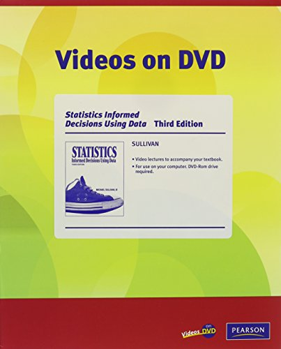 Videos on DVD for Statistics: Informed Decisions Using Data