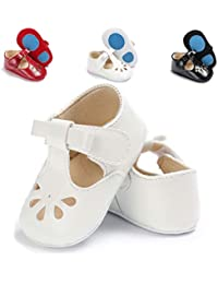 Baby Girls Mary Jane Flats Non-Slip Toddler Infant First Walkers Princess Dress Shoes