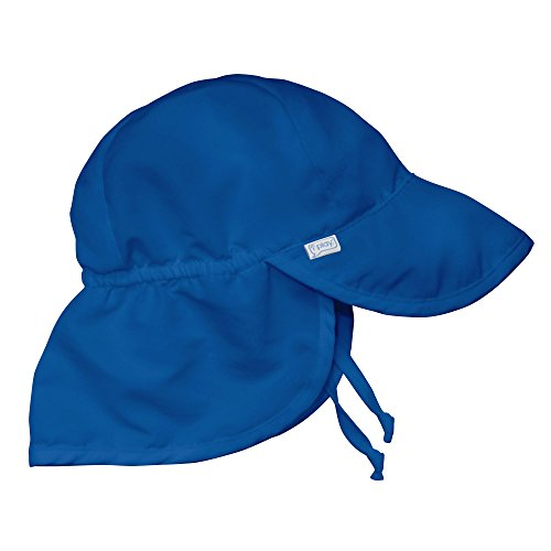 i play. Baby Toddler Flap Sun Protection Swim Hat, Royal Blue, - Toggle Row