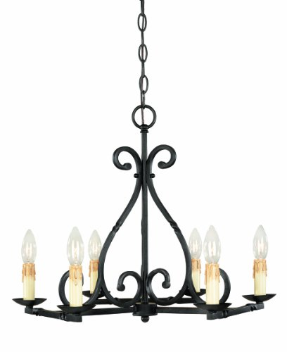 Cheap World Imports 61817-42 Rennes Collection 6-Light Chandelier, Rust