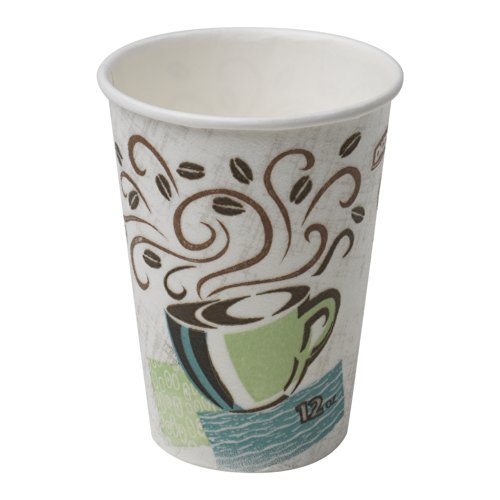 Dixie PerfecTouch 12 oz. Insulated Paper Hot Coffee Cup by GP PRO (Georgia-Pacific), Coffee Haze, 5342DX, 500 Count (25 Cups Per Sleeve, 20 Sleeves Per Case)