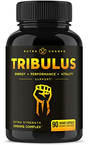 (Tribulus Terrestris 2000mg Supplement [Extra Strength] 45% Steroidal Saponins - Enhanced Absorption with Maca Powder & Black Pepper Extract - Tribulus Terrestris for Men & Women - 90 Vegan Capsules)