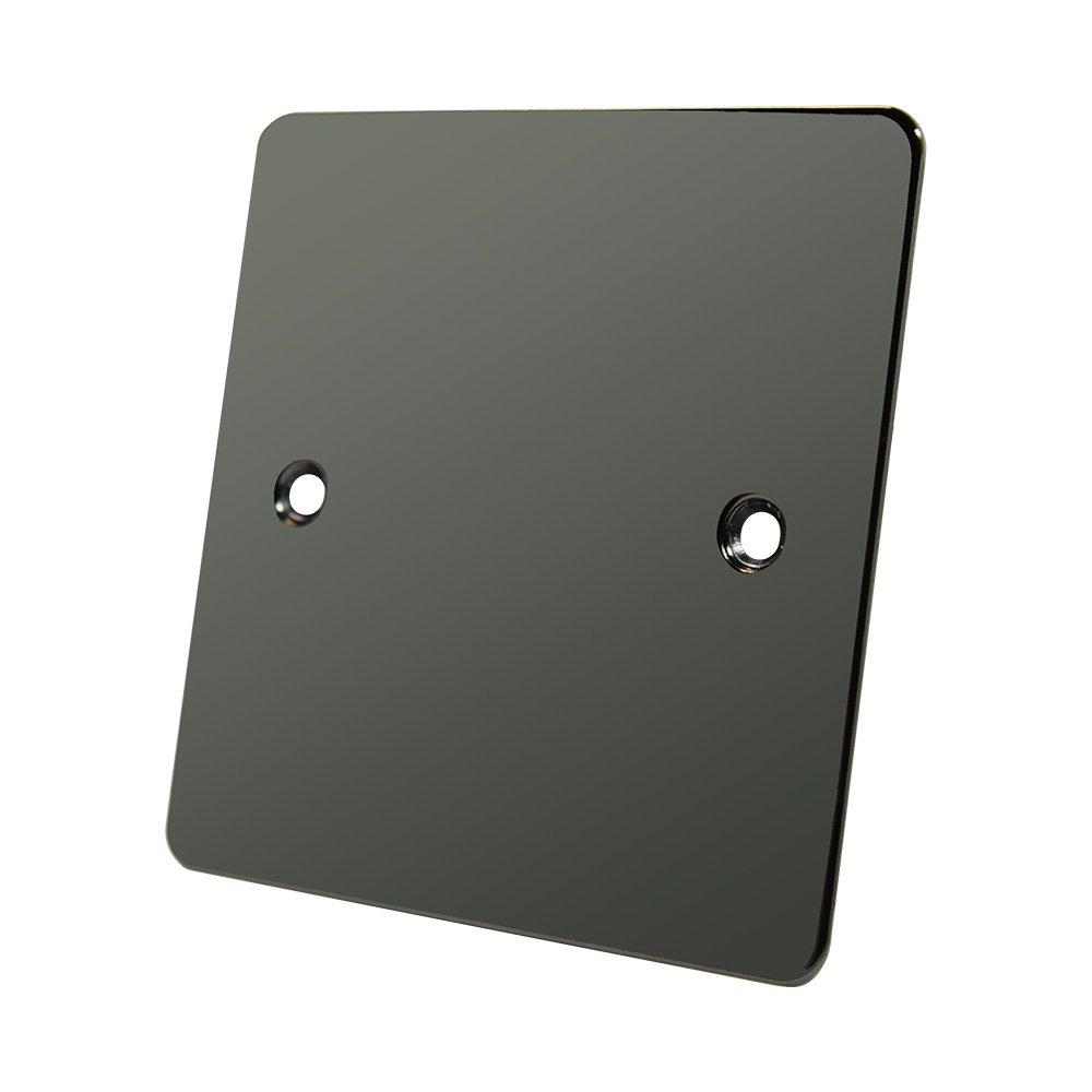 Flat Plate Black Nickel Single Blank Plate - Electrical Blanking Plate 1-Gang Alliance Electrical