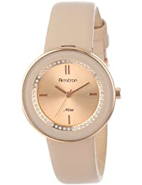 Women's 75/5124RSRGBH Rose Gold-Tone Watch with Swarovski Crystals and Leather Strap