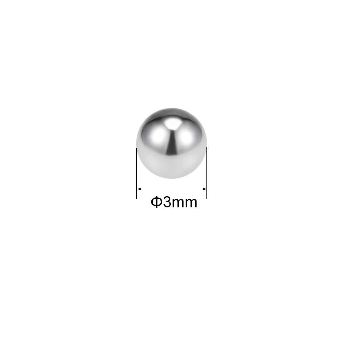 1000 piezas sourcing map 2mm-5mm Rodamientos Bolas 304 Acero Inoxidable G200 Precisi/ón Bolas 3 mm