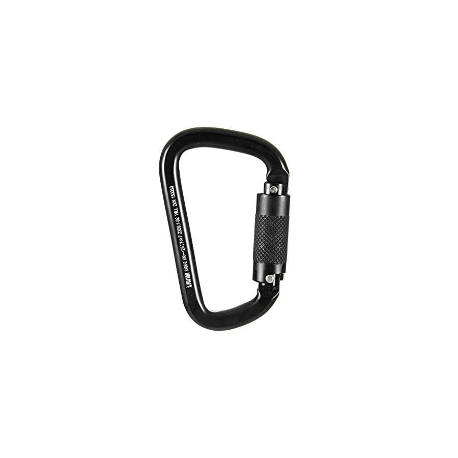 Fusion Climb Swift Auto Lock Modified D Shape Carabiner Second Generation Black Silver