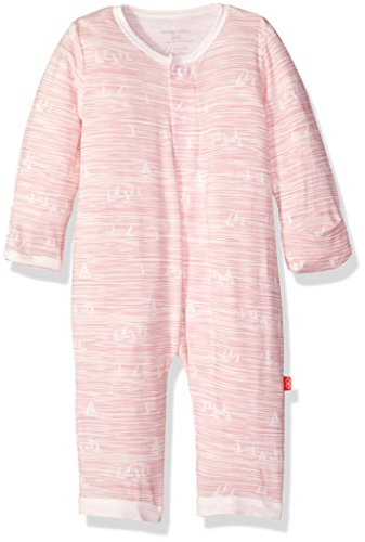 Pink Sailboat - Magnificent Baby Baby Infant Magnetic Modal Coverall, Seeing Sailboats Pink, NB