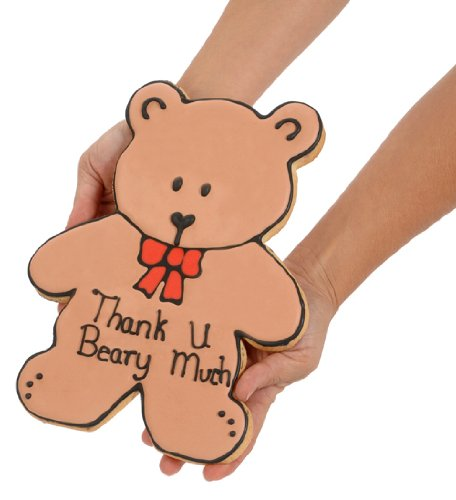 Giant Thank You Bear Sugar Cookie by Lady Fortunes