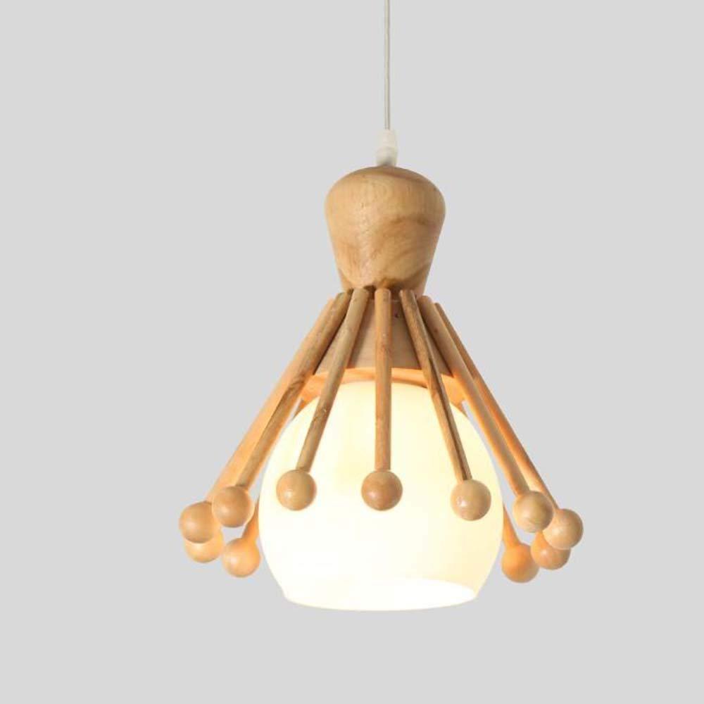 Kreative Einfache Holz Leuchter Wohnzimmer Restaurant Schlafzimmer Kronleuchter, Zwei Stile Optional Nicht Gehören Die Lichtquelle (Größe  23 Cm)