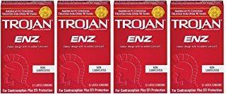 (Trojan ENZ hKpSKJ Non-Lubricated Condoms, 12 Count (Pack of 4))