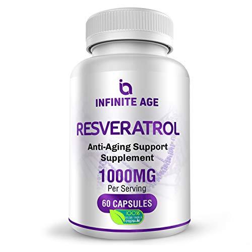 Infinate Age Resveratrol Supplements 1000mg. Antioxidant Supplement for Heart, Immune