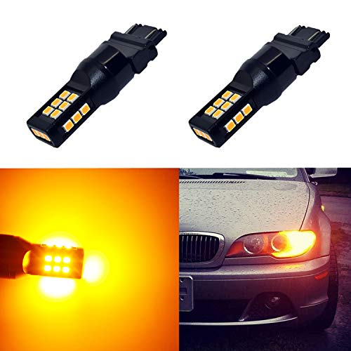 Alla Lighting T25 3121 3157 Amber Yellow LED Bulbs Xtreme Super Bright 4114 4157 3457 4057 3157 LED Bulb High Power 3035 21-SMD 12V LED 3157NAK LED Bulbs for Cars Trucks Turn Signal Blinker Lights