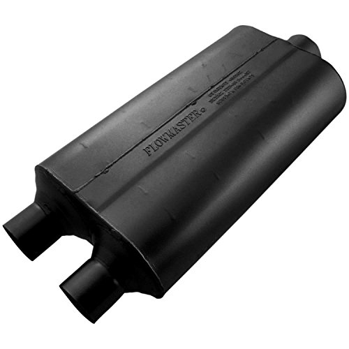 (Flowmaster 8524553 Super 50 Muffler 409S - 2.25 Dual IN / 3.00 Center OUT - Moderate Sound)