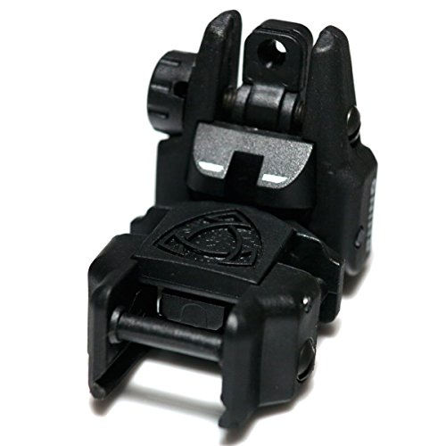 Airsoft Wargame Tactical Shooting Gear APS GG039B Rhino Auxiliary Flip Up Rear Sight Black by Airsoft Storm (Image #2)