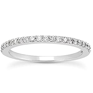 AGS Certified 1/4 Carat TW White Diamond Band in 10K White Gold