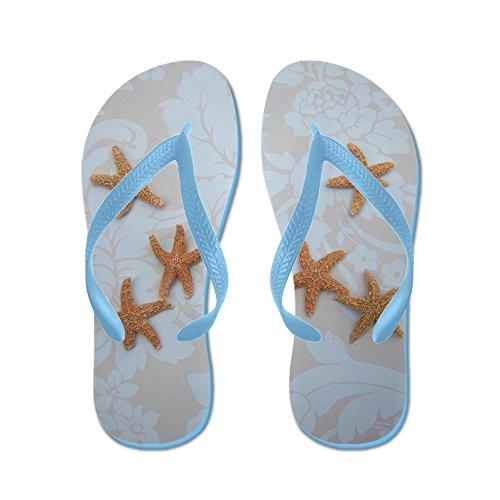 Cafepress Sandig Socker Flip Flops Blue - Flip Flops, Roliga Rem Sandaler, Strand Sandaler Caribbean Blue