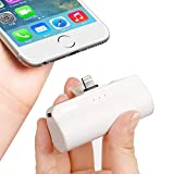iWALK Mini Portable Charger with Built in Plug, 3300mAh Ultra-Compact Power Bank External Battery Pack Charger Compatible with iPhone Xs Max/Xs/XR/X/8/7/6/5, iPad, (White)
