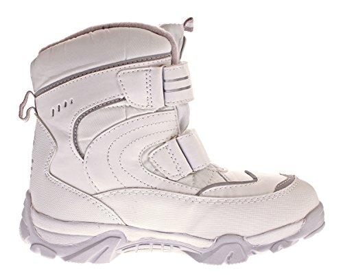 Toplay Damen Schnee Stiefel Winter Schuhe Warm Gefüttert Outdoor Boots Klettverschluss Gr. 36-41 Weiß-Grau