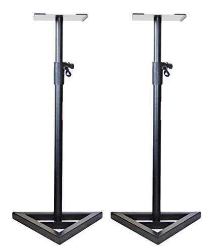 Pair of Ignite Pro Heavy Duty Near-Field Studio Monitor Speaker Stands Adjustable Height (Studio Monitor Stand)