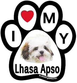 "/""I Love My Lhasa Apso/"" Bone Shaped Magnet"