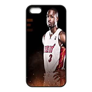 Unique Phone Case Pattern 5Miami Heat Dwayne Wade #3 Action Shot Phone Case- For Apple Iphone 5 5S Cases