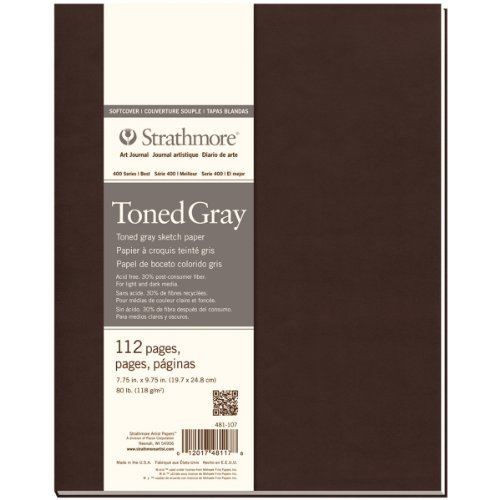 Strathmore ((481-107 400 Series Softcover Toned Gray Art Sketch Journal, 7.75