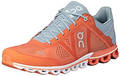 ON Men's Cloudflow Running Shoes, Orange/Glacier, 8.5 AU/US