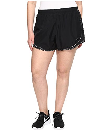 Nike Women's 3'' Plus Size Dry Tempo Running Shorts (Black Wolf/Grey, 2X)