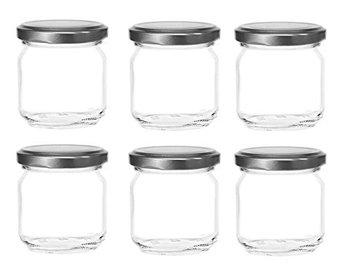 glass 8oz jars freezer - 6
