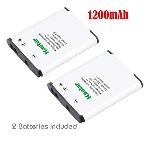 Kastar Battery 2x for Nikon EN-EL19 Coolpix A100 S32 S100 S2600 S2700 S2750 S2800 S3100 S3300 S3400 S3500 S3600 S3700 S4100 S4400 S5200 S5300 S6600 S6700 S6800 S6900 S7000, Sony NP-BJ1 NPBJ1 DSC-RX0