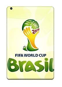 Premium Fifa World Cup Brasil 2014 Colorful Illustration Iphone 5 Back Cover Snap On Case For Ipad Mini/mini 2
