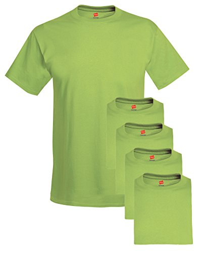 Hanes Comfort Soft Crew Neck Tee (Pack of 5), Lime, Medium ()