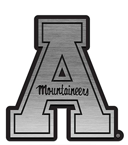 Appalachian State Mountaineers Antique Nickel Auto Emblem 2.5 x 3 Inches Appalachian State Mountaineers Golf