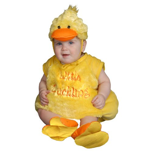 Dress Up America Baby Duckling, Yellow, 6-12 Months