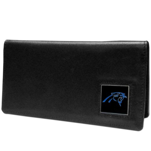 NFL Carolina Panthers Leather Checkbook Cover