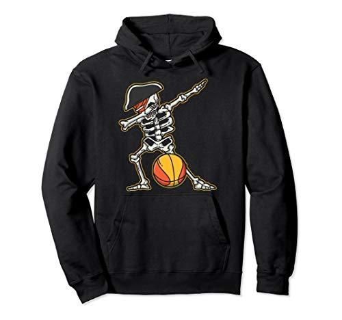 Basketball Halloween Ideas (Dabbing Basketball Skeleton Pirate Cool Halloween Costume Pullover)