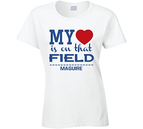 Harry Maguire My Hearts on That Field England World Cup 2018 Football Ladies T Shirt M White