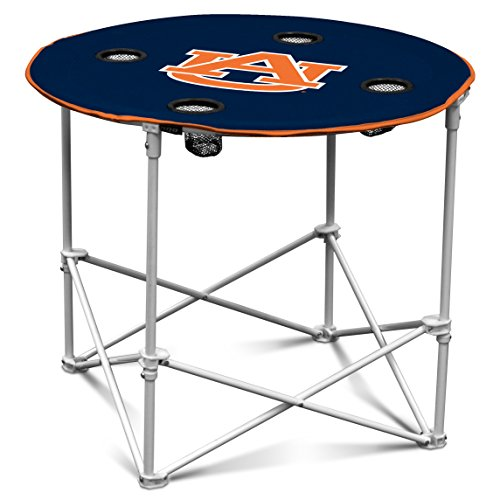 Auburn Tigers Cups - Logo Brands Auburn Tigers Collapsible Round Table with 4 Cup Holders and Carry Bag