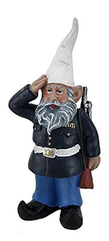 Marine Gnome In Dress Uniform Garden Gnome Statue (Gnome With Hats)