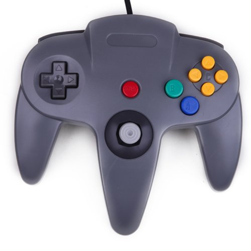 HDE Replacement Nintendo 64 Controller Wired Gamepad for Original N64 Game Consoles (Grey) from HDE