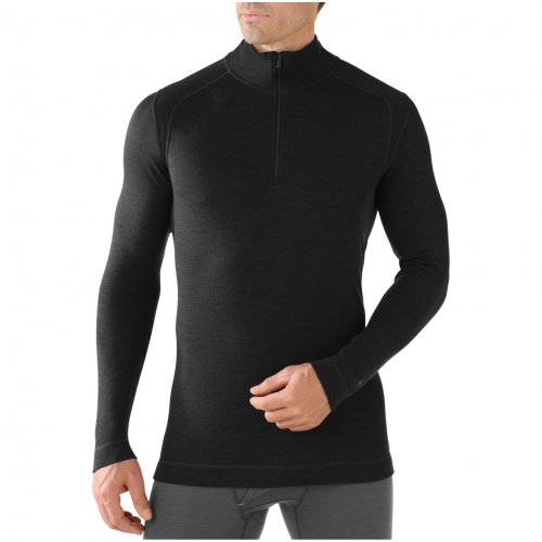 SmartWool Men's Midweight Zip T, Black 2XL