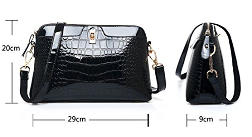 Tote Diagonal Women's Fashion Handbags Crocodile Red Seaoeey Rose Shell Pattern Bag Wine Shoulder qwxX8BB1d