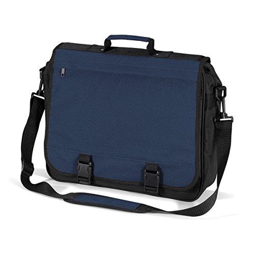 BagBase Borsa Tracolla Documenti Portfolio briefcase 40x35x11cm 15L Graphite Grey French Navy