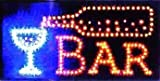 UbiGear 10 * 19 Inch Animated Motion LED Restaurant Cafe Bar Club Sign +On/off Switch Open Light Neon