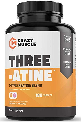 Creatine Pills (2 Month Supply) 5,000mg Per Serving – 180 Creatine Tablets (Better Than creatine Capsules) – Muscle Gain Supplement with 5g of Creatine Monohydrate, Pyruvate + AKG – Optimum Strength